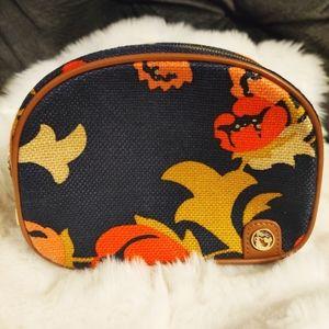 SPARTINA Makeup Bag Natural Leather & Linen